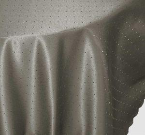 Tischdecke rund grau 160 cm Ø Punkte bügelfrei fleckenabweisend Mitteldecke