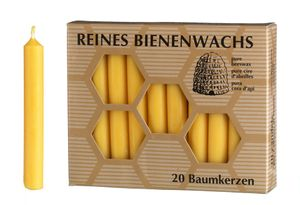 Baumkerzen 100 % Bienenwachs, 20 Stück