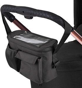 ONVAYA® Kinderwagen Organizer | Kinderwagentasche schwarz | Buggy Tasche | Babytasche | Buggy Organizer