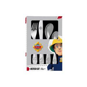 p:os Besteck Feuerwehrmann Sam, 4-teilig (1 Set)