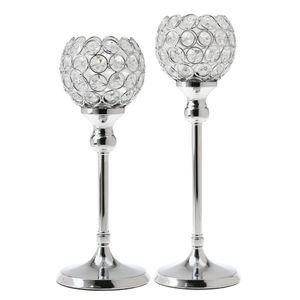 2 Stück Silber Kristall Kerzenständer Kerzenhalter Hochzeit Feier Geburtstag Dekoration Geschenk