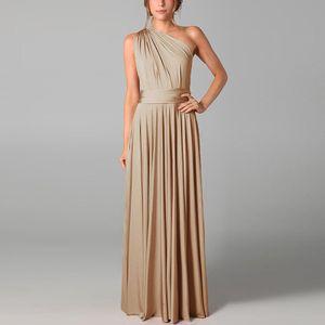 Damen Open Back Solid Color Lace-up Langes Kleid V-Ausschnitt Ärmellos Swing Sommerkleid