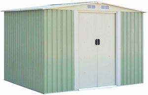 COSTWAY Metall Gerätehaus Gartenhaus Geräteschuppen mit Giebeldach, 205 x 257 x 175,5 cm, Grün