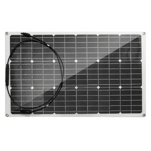 100W 18V flexibles monokristallines Solarzellenmodul-Kit mit MC4-Anschluss für 12V Autobatterieladegerät RV Bootsdach Wohnmobil Camping