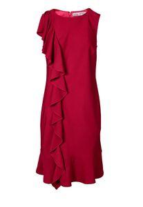 Ashley Brooke Damen Designer-Volantkleid, rot, Größe:40
