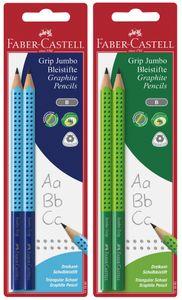 FABER-CASTELL Bleistift Jumbo GRIP Boys 2er Blisterkarte zufällige Farbe (1 Set)