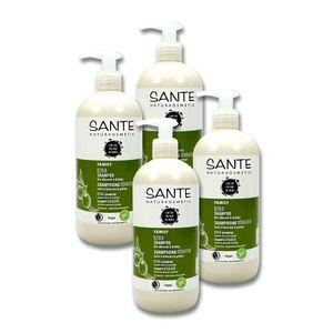 Sante Naturkosmetik Shampoo Family Repair Olivenöl & Ginkgo, 500 ml x 4