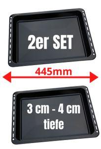 UNIQDEALZ 445x375x 30 und 40mm mit 2 Backbleche 2 Tiefe emailliert passend für Bauknecht Whirlpool Ignis IKEA