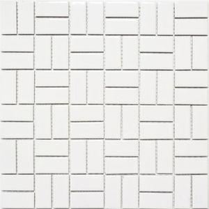 Mosaik Fliese Keramik Windmühle weiß glänzend Küchenfliese Wandfliese MOS24-CWM7WG_f