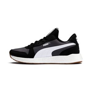 PUMA NRGY Neko Retro Herren Low Boot Sneaker Sportschuhe Schwarz-Grau Schuhe, Größe:42 1/2