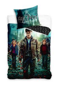 Harry Potter - Wende-Bettwäsche-Set mit Hermine, Ron & Harry, 135x200 & 80x80