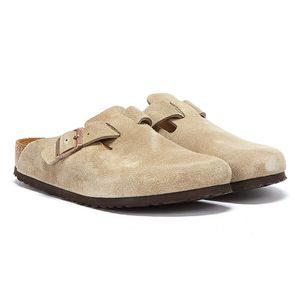 BIRKENSTOCK Boston Clogs Pantoffel Hausschuhe Beige Schuhe, Größe:43