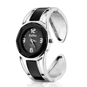 Schwarz Armband Armbanduhren Design Quarz Uhr mit Strass Dial-Edelstahl-Band für Frauen