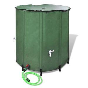 vidaXL Wasserspeicher Regentonne Wassertank 500L klappbar