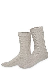 Lusana Trachtensocken kurz natur 100978 Sockengröße: 42-44