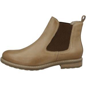 Tamaris Damen Chelsea Boots Leder Stiefeletten 1-25056-27, Größe:37 EU, Farbe:Braun