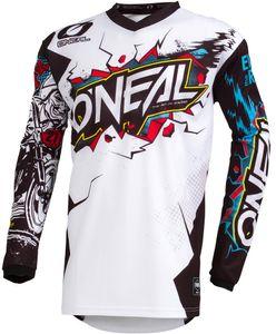 O'Neal ELEMENT Youth Jersey VILLAIN Langarm-Shirt, Farbe:white, Größe:L