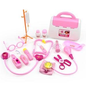 Arztkoffer Spielzeug Kinderarztkoffer Doktor Set Lernspielzeug Kinder Rollenspiele 15 tlg Kit mit kleine Puppe