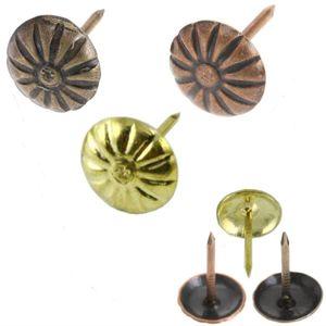 Polsternägel Ø 11mm Blumen Ziernägel Möbelnägel Beschläge Koffernägel NÄGEL Bronze, 11 mm 100 Stück