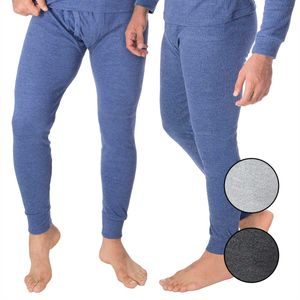 BlackSnake® 2-er Set Herren Thermounterhose - Extra warm und weich durch Innenfleece - 4XL - Blau