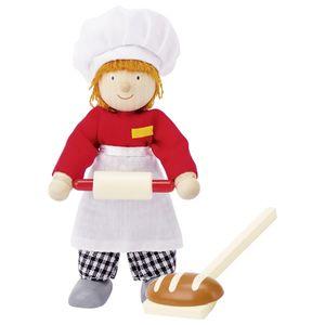 goki 51608 Biegepuppe Bäcker, bunt (1 Stück)
