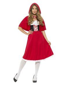 Smiffy's - Rotkäppchen-Kostüm - Rot - XS