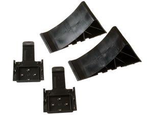 2 Unterlegkeile und 2 Halter Größe 20 - Kunststoff schwarz