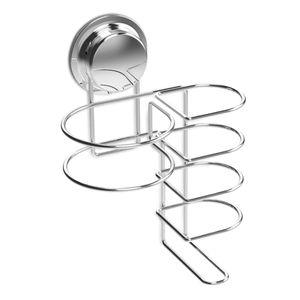 Navaris Halterung für Haartrockner und Glätteisen - Halter Wandhalterung mit Saugnapf - Set aus Fönhalter und Glätteisenhalter - ohne Bohren