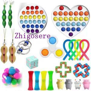 24 Stück / Set Fidget Sensory Toy POP it! Autismus Stressabbau Spielzeug