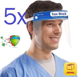 5x Gesichtsschutz Face Shield Gesichtsmaske Schutzvisier Visier Maske Schutz