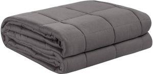 WOLTU Therapiedecke Gewichtsdecke für Erwachsene, aus Baumwolle, Cashmere Feeling, Beschwerte Decke, Grau 150x200cm, 7kg