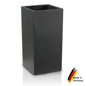 Pflanzkübel TORRE 80 Kunststoff Blumenkübel, 40x40x80 cm (L/B/H), Farbe: anthrazit matt