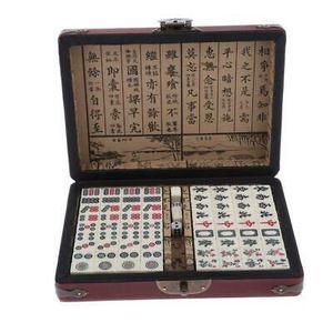 Mahjong Mah Jong Gesellschaftsspiel mit Koffer Set