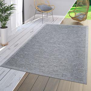 Teppich Für In-& Outdoor Terrasse Küchenteppich Mit Bordüren Muster Modern, Farbe:Grau, Größe:300x400 cm