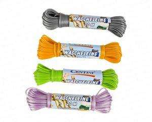 Centi Wäscheleine 20 m, PVC mit Stahldrahteinlage, farbig sortiert