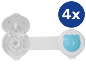 mumbi Kindersicherung Schrank Tür Schubladen Schranksicherung Schubladensicherung Türsicherung, blau, 4er Set
