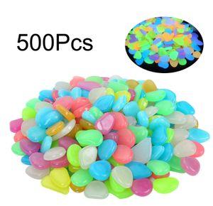 500 Stück Bunt Leuchtsteine Kieselsteine Leuchtkiesel Floureszierende Pebble Steine Bunt /Blau/Grün/Gelb/Pink/Weiß