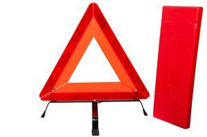Warndreieck Notfall Panne Dreieck Champion mit Metallfuß und Kunststoffköcher
