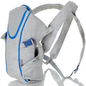 Babytrage Neugeborene 0-15 kg ab Geburt Bauchtrage Rückentrage Baby Träger grau
