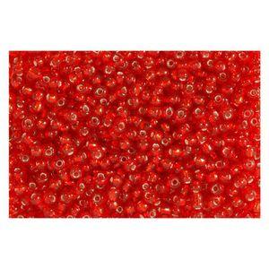 Rocailles Silbereinzug 2,6mm Silverline Perlen rot - 30g (ca. 1.150 Stück)
