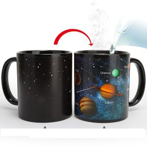 Favson  Thermoeffekt Tassen Farbwechsel Kaffeetasse Trinkbecher Geschenke Sternhimmel (Solar System)
