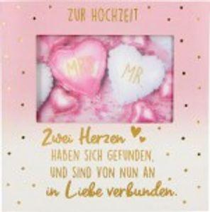 Hochzeitskarte Klappkarte 3D mit Musik & Licht Zur Hochzeit Zwei Herzen haben sich..
