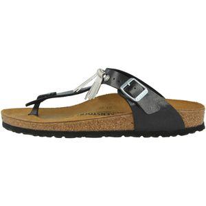 BIRKENSTOCK Gizeh Damen Zehentrenner Schwarz Schuhe, Größe:36
