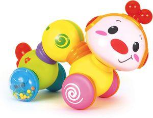 Fröhlicherschlängelnder Wurm – Lustiges Baby Aktivität Krabbel-Spielzeug – Fördert bei Babys das erlernen von Bewegungenund das Erkunden durch rollen und krabbeln – für Babys ab 6 Monaten