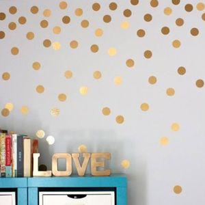 Wandaufkleber Home Decoration Nordic European Bedroom Decor Goldene Tupfen Skandinavisch