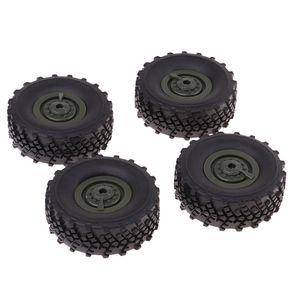 4 Stück Auto Felge Reifen Räder für WPL 1/16 Armee Lkw