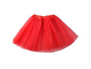 Tütü Tutu Ballettrock Tüllrock Petticoat Ballettkleid Rock Fasching karnaval  3 Lagen 40cm Rot