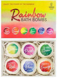 "6er Set Badebomben BRUBAKER Cosmetics ""Rainbow"" - Handgemacht - Vegan - Glutenfrei - Parabenfrei"