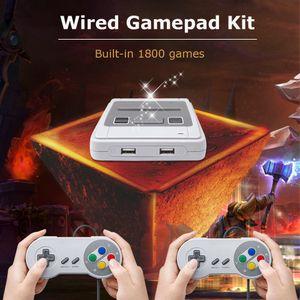 Gamepad Wired Gaming Controller Klassische Spielekonsole Klassische Retro-Videospielkonsole 1800 Spiele 8 GB TF-Karte
