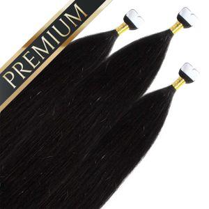 Premium Mini Tape Extensions, Farbe:#1, Länge:50cm
